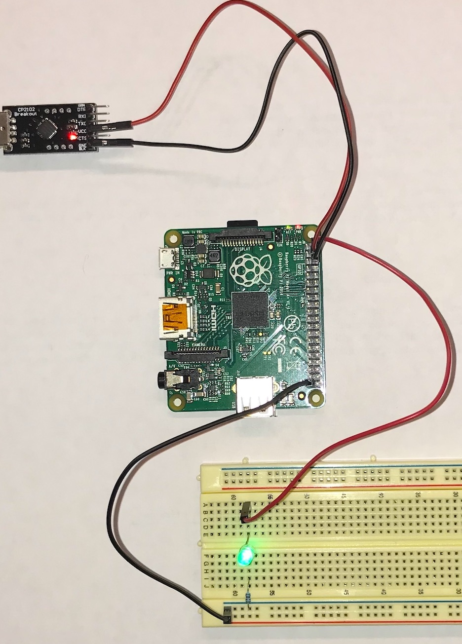 Cs107e Lab 1 Setup The Raspberry Pi Circuit Connected We Can Go Ahead And Add Some Code For Our Replace Your 1k Resistor With A 10k Does Brightness Of Led Change You Might Want To Coordinate Another Group So Compare